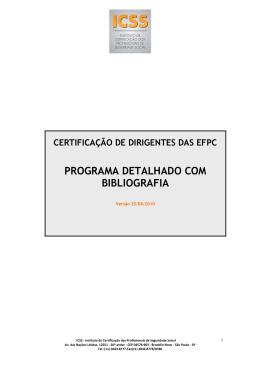 Programa Detalhado com Biografia ICSS