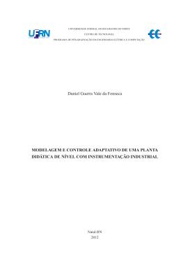 Modelagem e Controle Adaptativo de uma Planta Didática