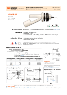 Sensores ICOS para Controle de Nível - Catálogo