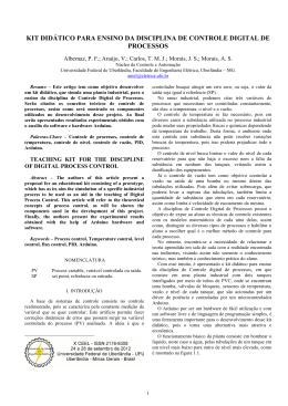 kit didático para ensino da disciplina de controle digital de processos