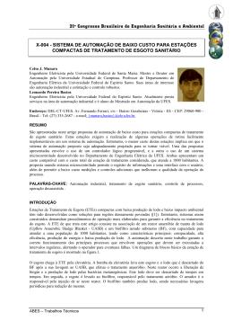 21º Congresso Brasileiro de Engenharia Sanitária e Ambiental X-004