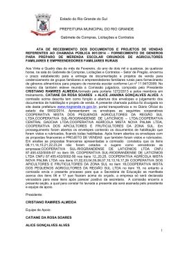 ATA - Prefeitura do Rio Grande
