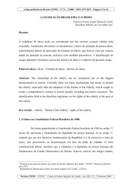 3. A legislação brasileira e o idoso