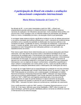 A participação do Brasil em estudos e avaliações educacionais