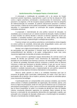 74 EIXO V Gestão Democrática, Participação Popular e Controle