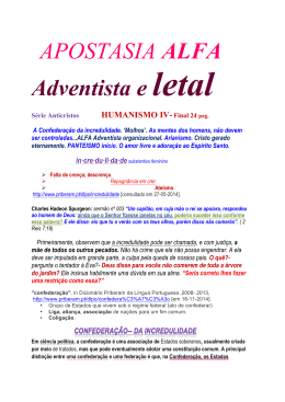 APOSTASIA ALFA Adventista e letal