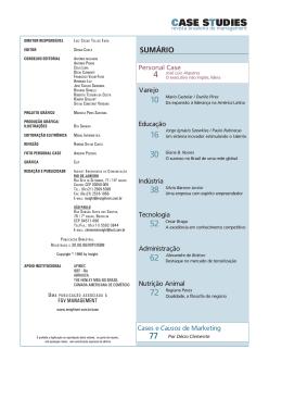 CASE STUDIES - Insight Comunicação