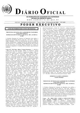Diário Oficial nº 3.165 - 03 de Junho (Terça-feira)