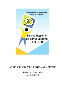 Anais - BVS Psicologia Brasil