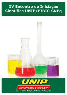 XV Encontro de Iniciação Científica UNIP/PIBIC-CNPq