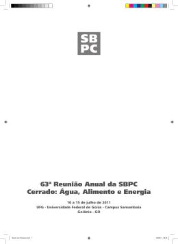 Programação de Pôsteres - SBPC – Sociedade Brasileira para o