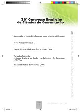 36º Congresso Brasileiro de Ciências da Comunicação