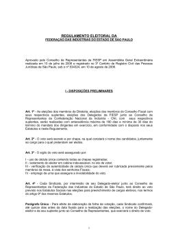 Regulamento Eleitoral FIESP