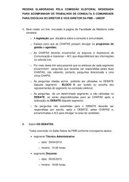 regras elaboradas pela comissão eleitoral designada para