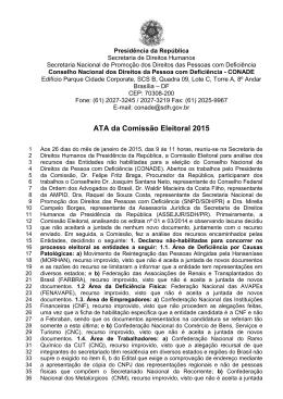 ATA da Comissão Eleitoral 2015 - Secretaria Nacional de Promoção