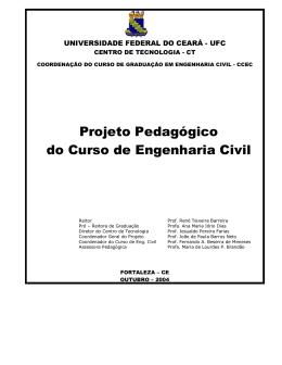 Projeto Pedagógico do Curso de Engenharia Civil