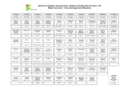 Matriz Curricular - Curso de Engenharia Mecânica