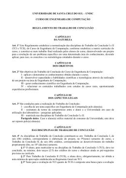 Regulamento TC Engenharia de Computação