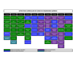 estrutura curricular do curso de engenharia química