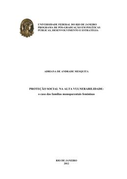 PROTEÇÃO SOCIAL NA ALTA VULNERABILIDADE