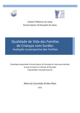 Qualidade de vida das famílias de crianças com surdez