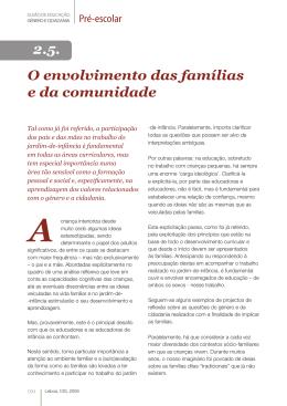 O envolvimento das famílias e da comunidade