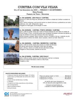 Curitiba 04 a 07 - Alfainter Turismo