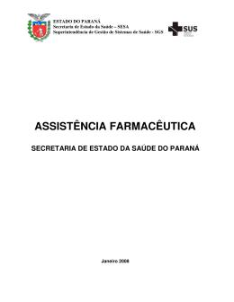 assistência farmacêutica - Secretaria de Estado da Saúde do Paraná
