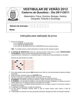 Baixar Prova - Vestibular UENP