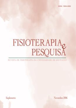 Suplemento Novembro 2006 - Revista Fisioterapia e Pesquisa
