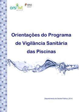 Orientações do Programa de Vigilância Sanitária das Piscinas