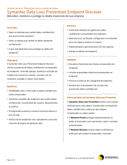Symantec Software Datasheet