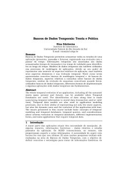 Bancos de Dados Temporais: Teoria e Prática