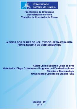 A Física dos Filmes de Hollywood - Universidade Católica de Brasília