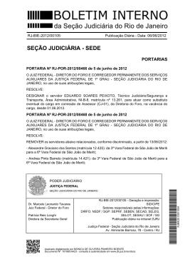 seção judiciária - sede - Justiça Federal – Seção Judiciária do Rio