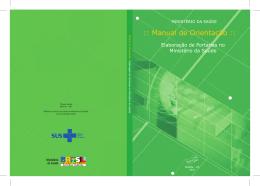 Manual de orientação: elaboração de portarias no Ministério da
