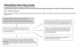 Fluxo de Procedimentos para Publicação de Edital