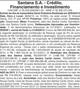Santana S.A. - Crédito, Financiamento e Investimento