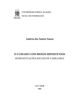 Andréa dos Santos Souza O CUIDADO COM IDOSOS