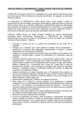 PROCON ORIENTA CONSUMIDORES E PEDE CUIDADO COM