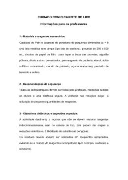 3 - CUIDADO COM O CAIXOTE DO LIXO