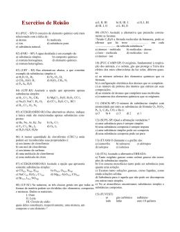 Substâncias e misturas (Exercícios de Revisão)