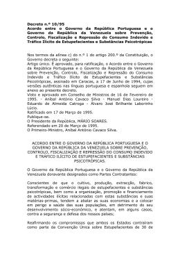 Acordo entre o Governo da República Portuguesa e o Governo da