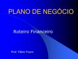 FLUXO DE CAIXA FINANCEIRO