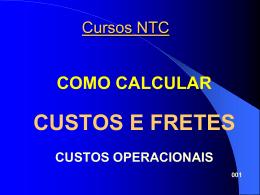 CUSTOS E FRETES