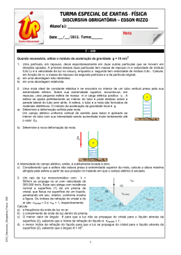 TURMA ESPECIAL DE EXATAS - FÍSICA