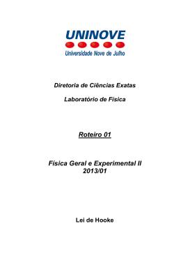 Roteiro 01 Física Geral e Experimental II 2013/01