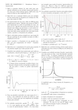 LISTA DE EXERCÍCIOS 2 - Osciladores Fısicos e