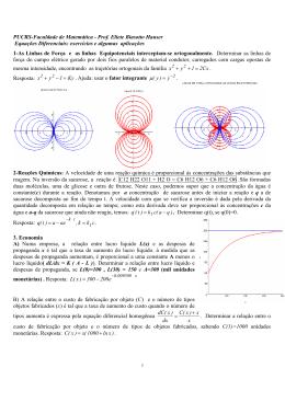 Aplicações das Equações Diferenciais de Primeira Ordem