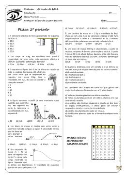 Física 2º período - Prof. Fábio de Castro
